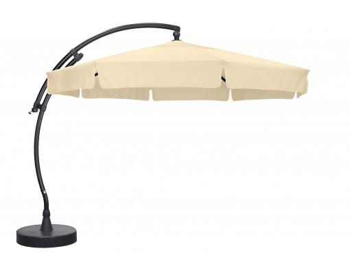Sun Garden - Easy Sun cantilever parasol Classic with flaps - Olefin Beige canvas