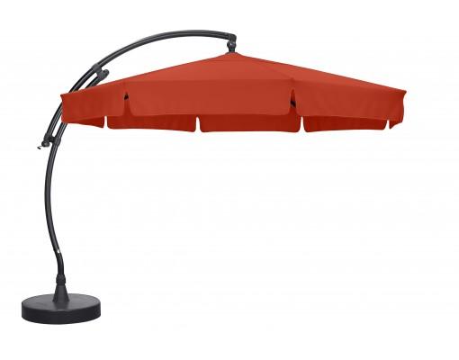 Sun Garden - Easy Sun cantilever parasol Classic with flaps - Olefin Terracotta canvas