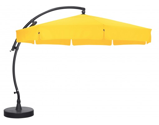 Sun Garden - Easy Sun cantilever parasol Classic with flaps - Olefin Sunflower canvas