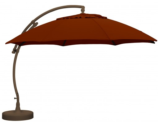 Sun Garden - Easy Sun cantilever XL Round without flaps - Olefin Burgundy canvas