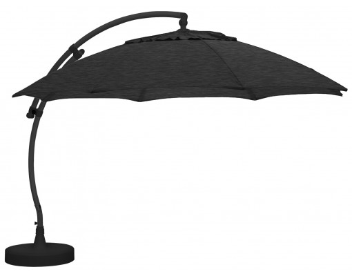 Sun Garden - Easy Sun cantilever parasol XL Round without flaps - Olefin Carbone canvas