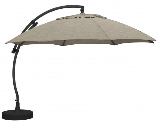 Sun Garden - Easy Sun cantilever XL Round without flaps - Polyester Taupe canvas