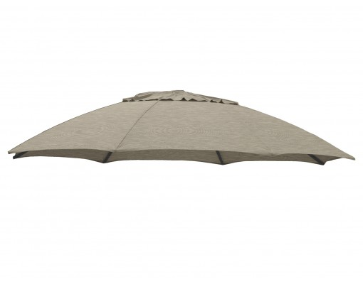 Olefin Taupe replacement canvas for Easy Sun parasol 375