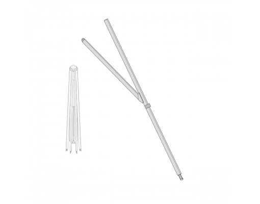 FOR SQUARE 320/320! Long white rib for Easy Sun - Sun Garden parasol