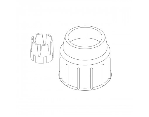 clamp nut + reduction ring universal anthracite