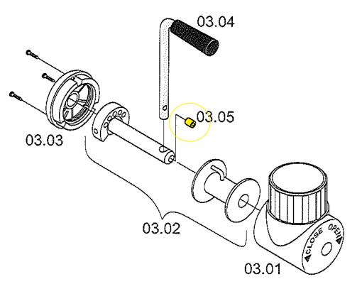 Stainless steel pressure screws for Easy Sun - Sun Garden parasol
