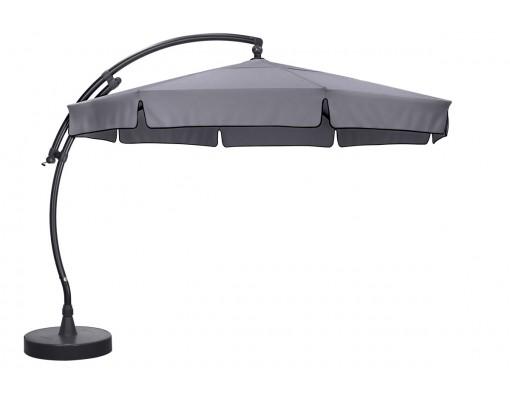 Sun Garden - Easy Sun cantilever parasol Classic with flaps - Olefin Titanium canvas