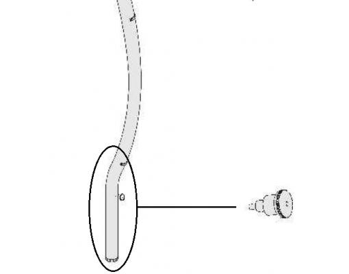 Anthracite rotate button for Easy Sun - Sun Garden parasol