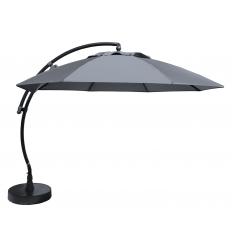 Cantilever Sun Garden - Easy Sun parasol XL round without flaps - Titanium Olefin canvas