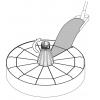Fillabel base for Easy Sun - Sun Garden parasol, light-brown