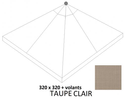 Toile de remplacement Light Taupe en Olefin pour parasol Easy Sun 320