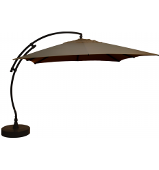 Sun Garden - Easy Sun cantilever parasol Square without flaps - Olefin Taupe canvas