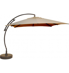 Sun Garden - Easy Sun cantilever parasol Square without flaps - Olefin LIGHT Taupe canvas