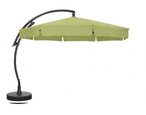 Sun Garden - Easy Sun cantilever parasol Classic with flaps - Olefin light green canvas