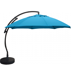 Cantilever Sun Garden - Easy Sun parasol XL round without flaps - Petroleum Blue canvas