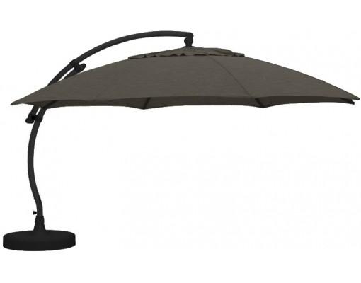 Sun Garden - Easy Sun cantilever parasol XL Round without flaps - Olefine light Taupe canvas