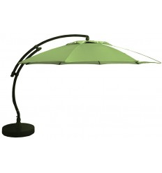 Sun Garden - Easy Sun cantilever parasol XL Round without flaps - Olefine light green canvas