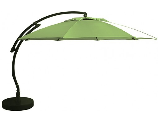 Sun Garden - Easy Sun cantilever parasol XL Round without flaps - Olefine light Taupe canvas