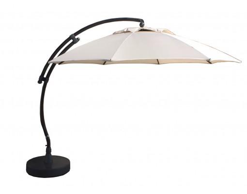 Sun Garden - Easy Sun cantilever parasol XL375 Round without flaps - Olefin Beige canvas