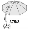 FOR XL 375! Complete rib kit (Anthracite) for Easy Sun parasol