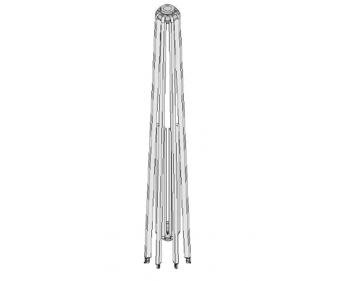 Complete rib kit (white) for Easy Sun parasol