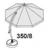 Complete rib 350 kit (white) for Easy Sun parasol