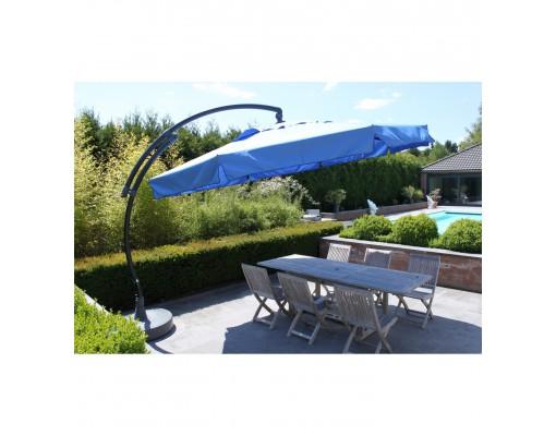 Sun Garden - Easy Sun cantilever parasol Classic with flaps - Olefin light blue canvas