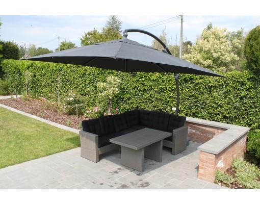 Sun Garden - Easy Sun cantilever parasol 320 Square without flaps - Olefin Chocolat canvas