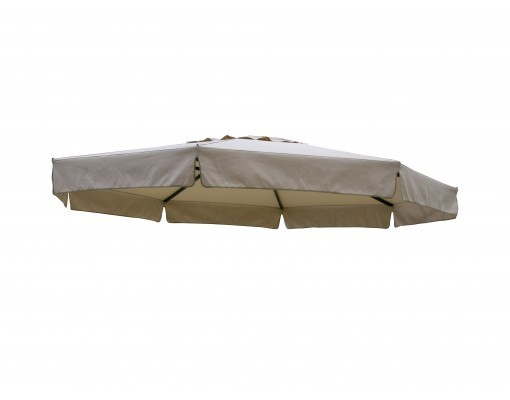 Polyester taupe replacement canvas for Easy Sun parasol 350